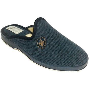 Zapatos Hombre Pantuflas Calzacomodo Chanclas hombre estar en casa forro de b azul