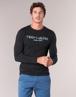 textil Hombre Camisetas manga larga Teddy Smith TICLASS 3 ML Negro