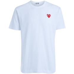 textil Mujer Tops y Camisetas Comme Des Garcons Camiseta  cuello redondo blanca Blanco