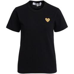 textil Mujer Camisetas manga corta Comme Des Garcons Camiseta de cuello redondo negra Negro