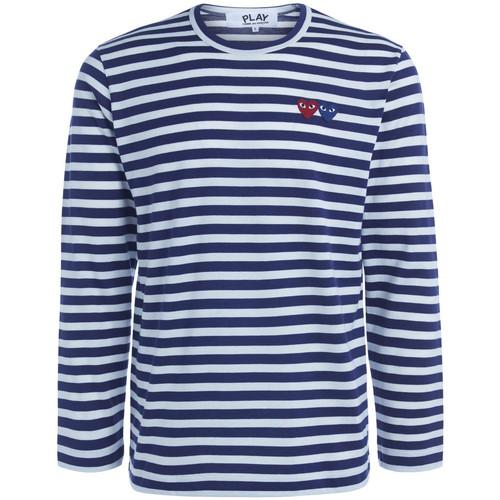 textil Hombre Camisetas manga larga Comme Des Garcons Camiseta de hombre  de rayas con Azul