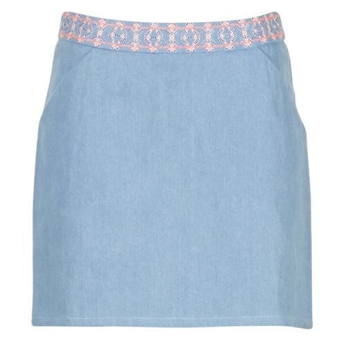 textil Mujer Faldas Yurban  Azul