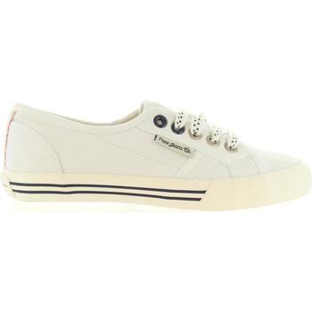 Zapatos Niños Deportivas Moda Pepe jeans PGS30179 BAKER Blanco