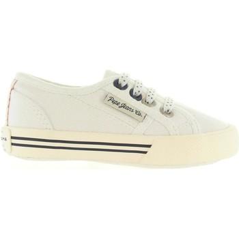 Zapatos Niños Deportivas Moda Pepe jeans PGS30198 BAKER Blanco