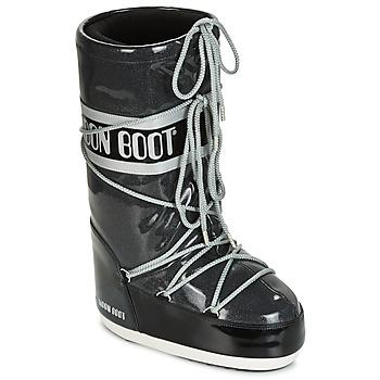 Zapatos Mujer Botas de nieve Moon Boot MOON BOOT STARRY Negro / Blanco