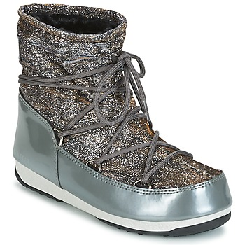 Zapatos Mujer Botas de nieve Moon Boot MOON BOOT WE LOW LUREX Gris / Plateado