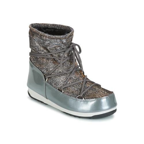 Últimos recortes de precios Moon Boot MOON BOOT LOW LUREX Gris / Plateado - Envío gratis con