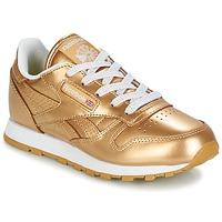 Zapatos Niña Zapatillas bajas Reebok Classic CLASSIC LEATHER MET Oro