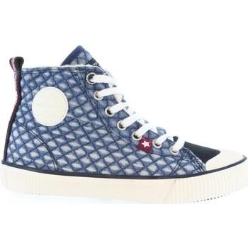 Zapatos Niños Botas de caña baja Pepe jeans PGS30223 INDUSTRY DENIM Azul