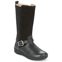 Zapatos Niña Botas urbanas Garvalin NEW FLORES Negro