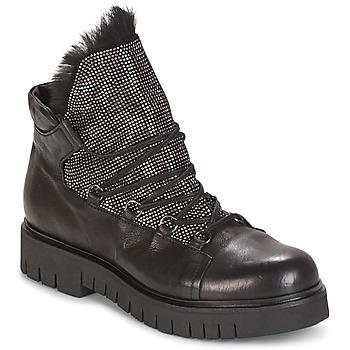Zapatos Mujer Botas de caña baja Now BIANCO Negro