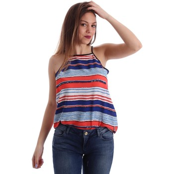 textil Mujer camisetas sin mangas Gaudì Jeans 73BD64223 Canotta Mujeres Blue Blue