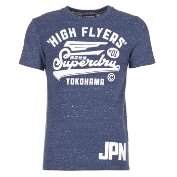 textil Hombre camisetas manga corta Superdry HIGH FLYERS REWORKED Marino