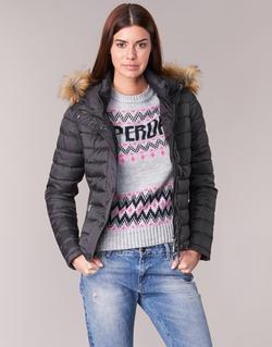 textil Mujer plumas Superdry FUJI SLIM Negro