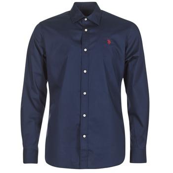 textil Hombre camisas manga larga U.S Polo Assn. ZED Marino