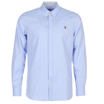 textil Hombre camisas manga larga U.S Polo Assn. CALE Azul