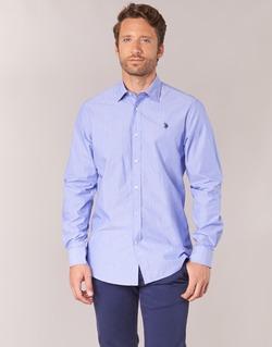 textil Hombre camisas manga larga U.S Polo Assn. RUSTY Marino