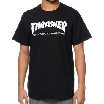 textil Hombre camisetas manga corta Thrasher TSTHRSKANA-BLA Negro