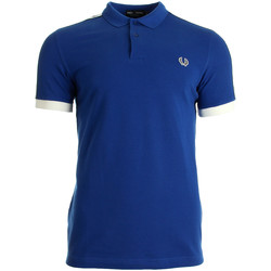 textil Hombre Tops y Camisetas Fred Perry Taped Pique Shirt Regal Azul