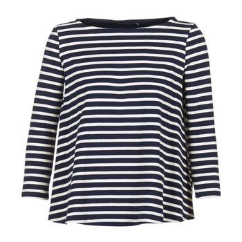 textil Mujer Tops / Blusas Petit Bateau LAURENI Blanco / Marino