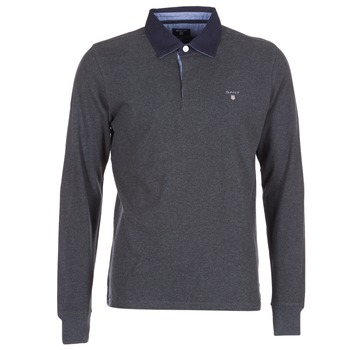 textil Hombre polos manga larga Gant THE ORIGINAL HEAVY RUGGER Gris