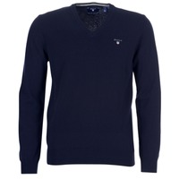 textil Hombre jerséis Gant SUPER FINE LAMBSWOOL V-NECK Marino