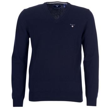 textil Hombre Chaquetas de punto Gant SUPER FINE LAMBSWOOL V-NECK Marino