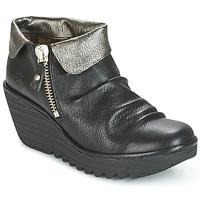 Zapatos Mujer Botas de caña baja Fly London YOXI Negro / Plateado