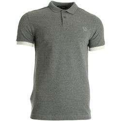 textil Hombre Tops y Camisetas Fred Perry Taped Pique Shirt Steel Marl Gris