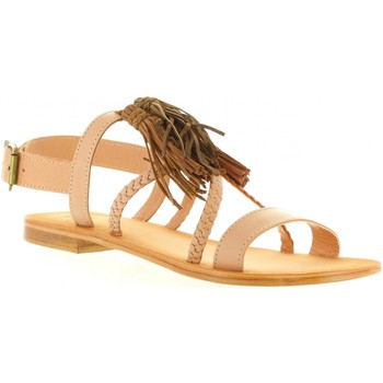 Zapatos Mujer Sandalias MTNG 94438 Beige