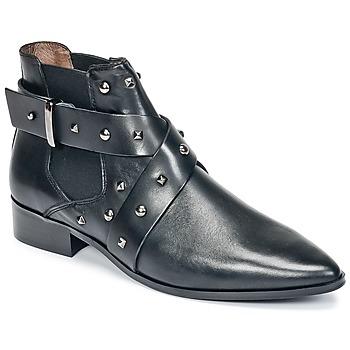 Zapatos Mujer Botas de caña baja Ikks LOW BOOTS BRIDGE ROCK Negro