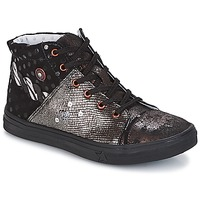 Zapatos Niña Botas de caña baja Catimini ROUSSEROLLE Negro / Plateado