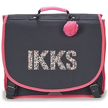 Bolsos Niña Cartable Ikks ROCK CARTABLE 41CM Negro / Rosa