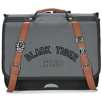 Bolsos Niño Cartable Ikks BLACK TIGER CARTABLE 38CM Negro / Gris / Marrón