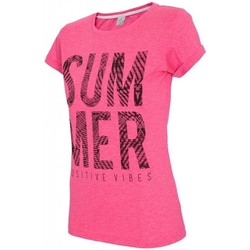 textil Mujer Tops y Camisetas 4F Womens T-shirt H4L17-TSD020APINK Rosa