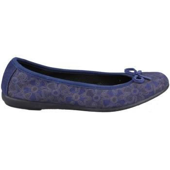 Zapatos Mujer Bailarinas-manoletinas Vulladi SERRAJE MANOLETINA FLORES AZUL