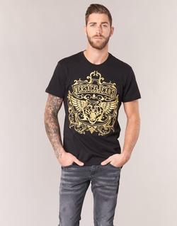 textil Hombre camisetas manga corta Versace Jeans B3GQB7T2 Negro / Dorado