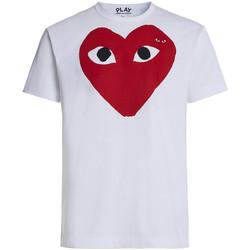 textil Hombre Tops y Camisetas Comme Des Garcons T-shirt Play by Comme des Garçons blanca con corazón rojo ojos n Blanco