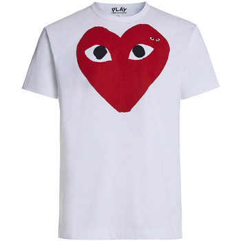 textil Hombre Camisetas manga corta Comme Des Garcons T-shirt Play by Comme des Garçons blanca con corazón rojo Blanco