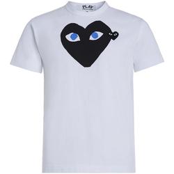textil Hombre Camisetas manga corta Comme Des Garcons T-shirt Play by Comme des Garçons blanca con corazón negro Blanco