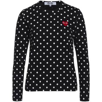 textil Mujer Tops y Camisetas Comme Des Garcons T-shirt Play by Comme des Garçons negra con lunares blancos Negro