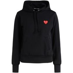 textil Mujer sudaderas Comme Des Garcons Sudadera  negra corazón rojo Negro