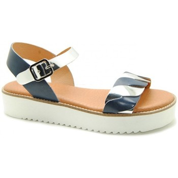 Zapatos Mujer Sandalias Wikers 2219 Argenté