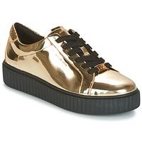 Zapatos Mujer Zapatillas bajas MICHAEL Michael Kors TRAVOR LACE UP Oro