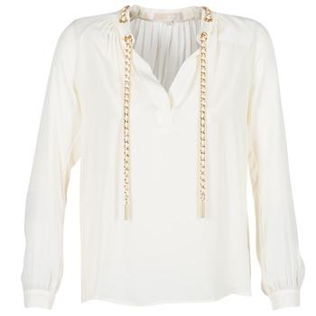 textil Mujer Tops / Blusas MICHAEL Michael Kors SLIT L/S CHAIN Crema