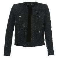 textil Mujer Chaquetas / Americana MICHAEL Michael Kors FRAY TWD 4PKT JKT Negro / Plata