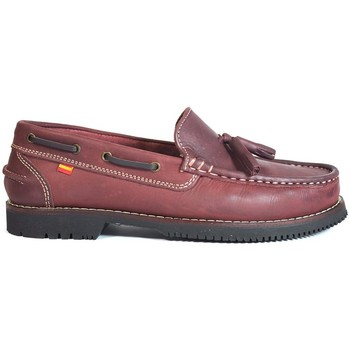 Zapatos Mujer Zapatos náuticos La Valenciana Zapatos Apache  Montijo Burdeos Rojo