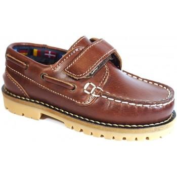 Zapatos Niños Zapatos náuticos La Valenciana Zapatos Niños  031 Cuero Marrón