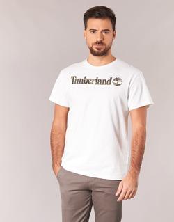 textil Hombre camisetas manga corta Timberland DUNSTAN RIVER CAMO PRINT Blanco