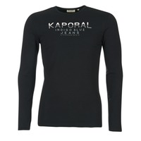 textil Hombre Camisetas manga larga Kaporal PONIO Negro